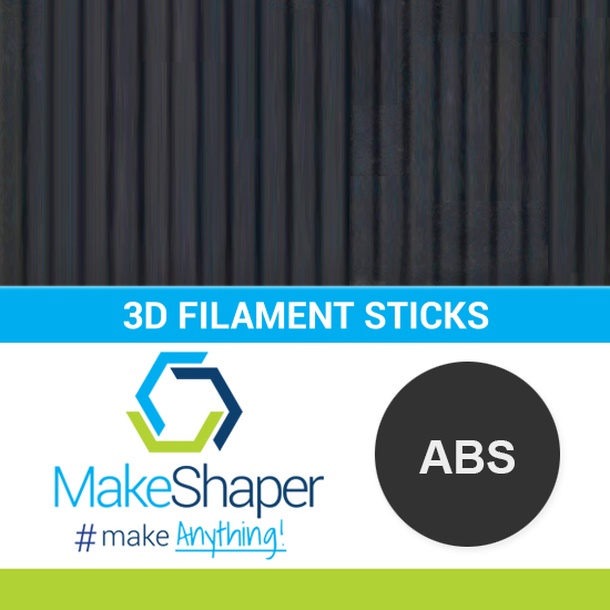 black abs filament sticks, abs filament sticks, black filament sticks