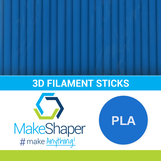 blue pla filament sticks, pla filament sticks, blue filament sticks