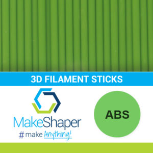 green abs filament sticks, abs filament sticks, green filament sticks