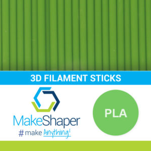 green pla filament sticks, pla filament sticks, green filament sticks