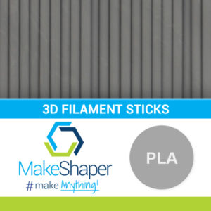 gray pla filament sticks, pla filament sticks, gray filament sticks