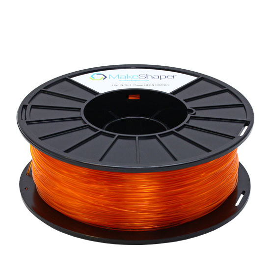 neon orange petg filament, neon orange petg, neon orange petg 1.75 filament, neon orange petg 1kg