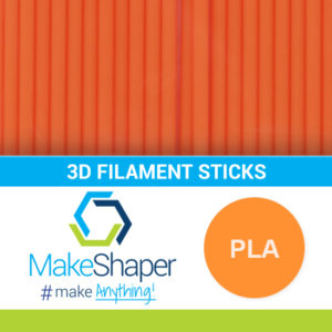 neon orange pla filament sticks, pla filament sticks, neon orange filament sticks
