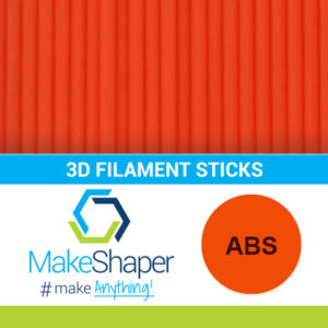 orange abs filament sticks, abs filament sticks, orange filament sticks