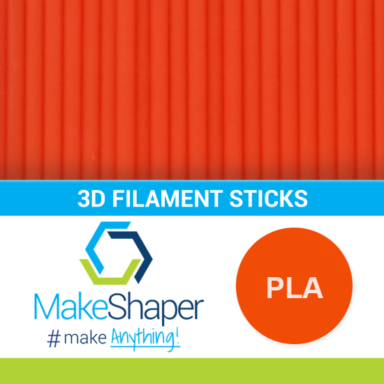 orange pla filament sticks, pla filament sticks, orange filament sticks