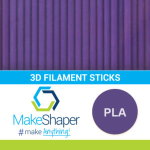 purple pla filament sticks, pla filament sticks, purple filament sticks