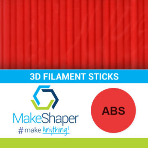 red abs filament sticks, abs filament sticks, red filament sticks