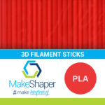 red pla filament sticks, pla filament sticks, red filament sticks