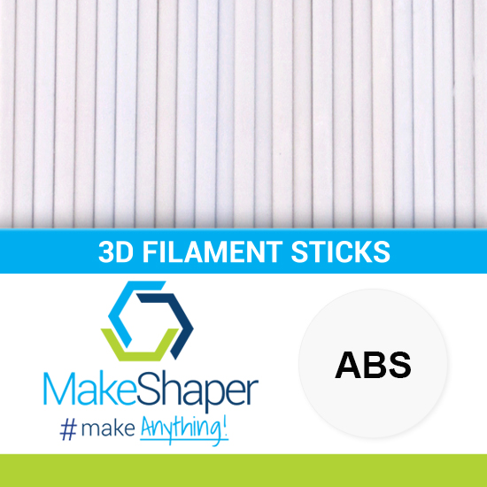 white abs filament sticks, abs filament sticks, white filament sticks