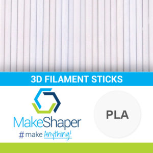 white pla filament sticks, pla filament sticks, white filament sticks