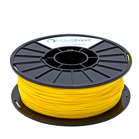 yellow petg filament, yellow petg, yellow petg 1.75 filament, yellow petg 1kg