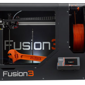 Fusion3-F410---Printer-Only---Straight-On---Orange-Wrench